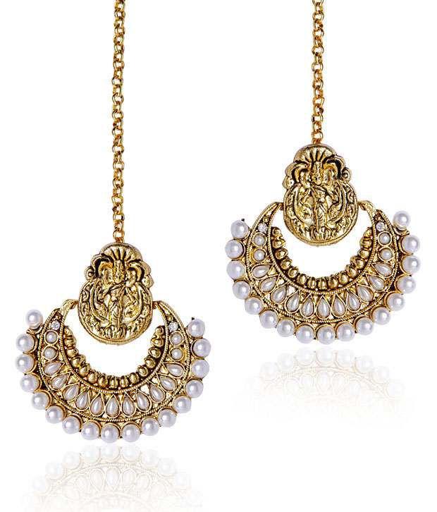 Shinning Diva Ramleela Inspired Pearl Earrings