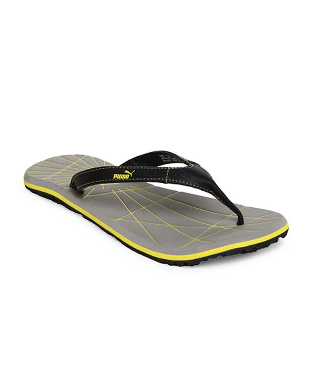 puma webster black grey causual flip flops price in. Black Bedroom Furniture Sets. Home Design Ideas