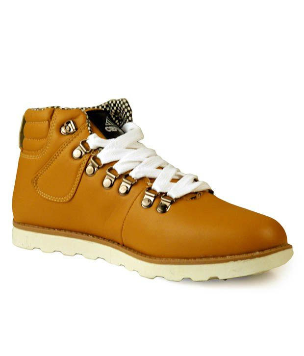 Cefiro Rugged Yellow Ankle Length Boots