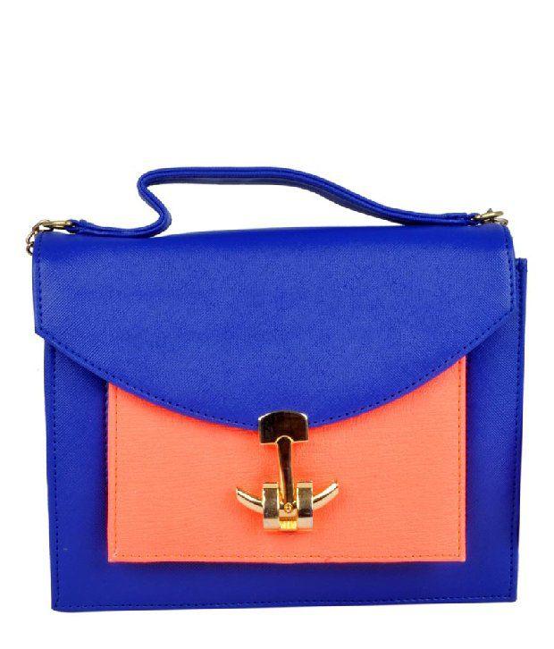 H.M HB1454-BLUE Satchel Bag