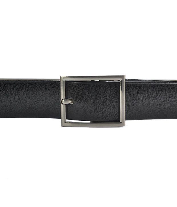 Royal Son Smooth Black Leather Belt