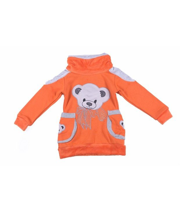 Isabelle Orange Sweatshirt For Girls