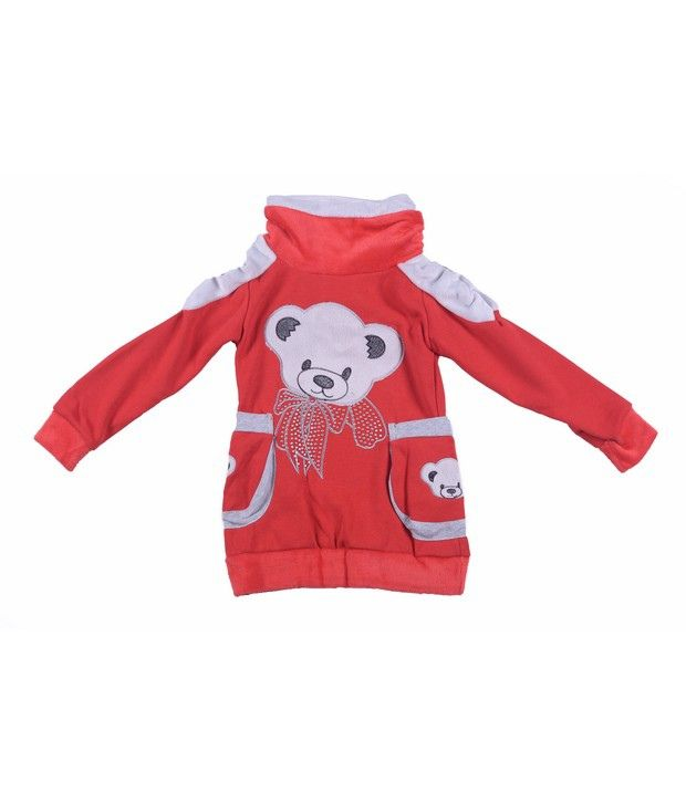 Isabelle Red Sweatshirt For Girls