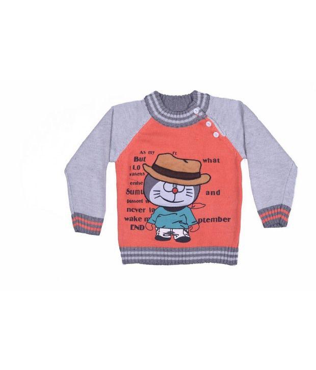 Jonez Orange Jacket For Boys