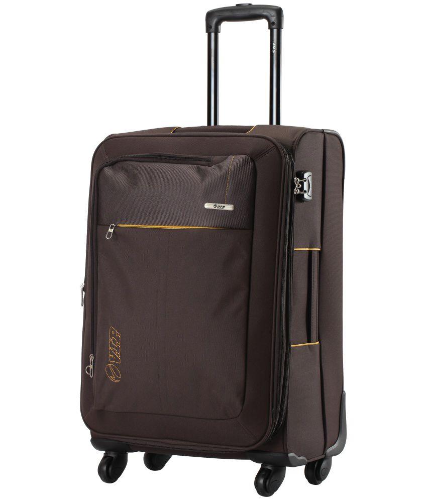 VIP Brown 4 Wheel  Soft Trolley-Size Medium (61Cm-69Cm)