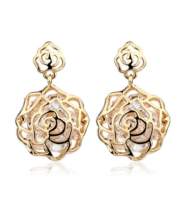 Everything Imported America Golden Rose earrings - Champagnegold