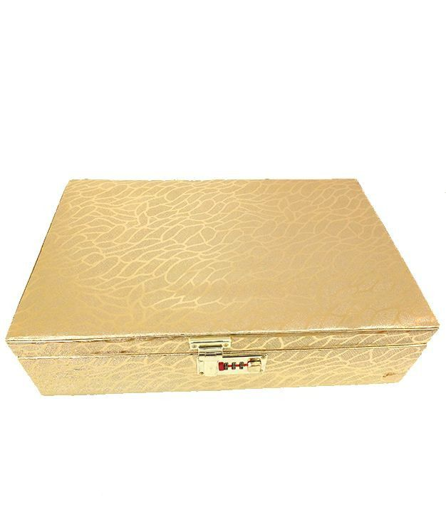 Goldencollections Beautiful Golden Jewellery Box