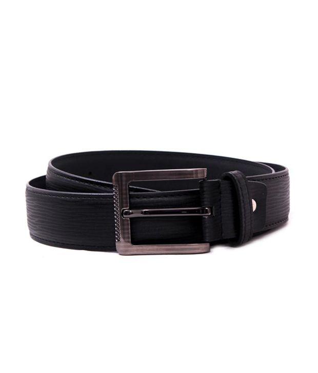 Pacific Gold Sturdy 40 Mm Belt- Black