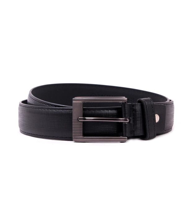 Pacific Gold Trendy 35 Mm Black Belt