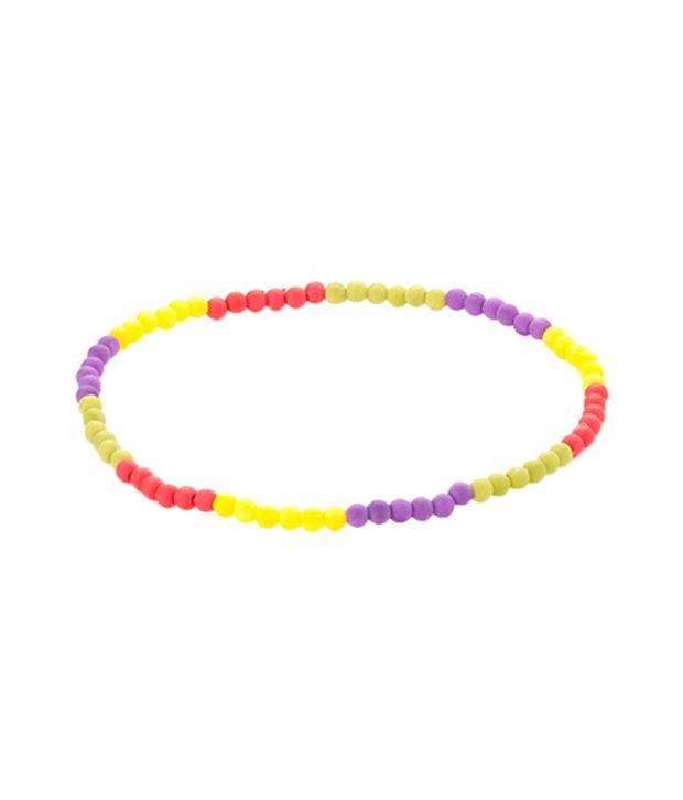 Voylla Vibrant Multicolor Anklet Pair