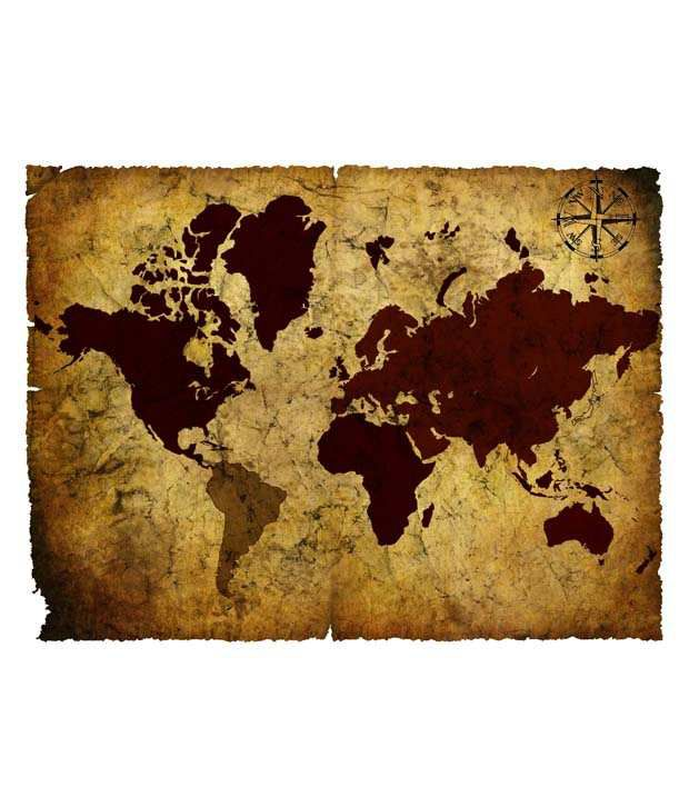 Seven rays vintage world map 03 poster buy seven rays vintage world seven rays vintage world map 03 poster gumiabroncs Images