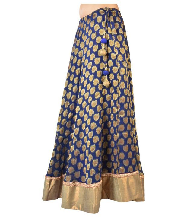 Buy 9Rasa Blue Georgette Skirts Online at Best Prices in India ...