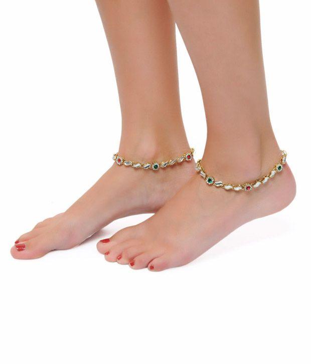 ShinningDiva Sleek Pair of Anklet