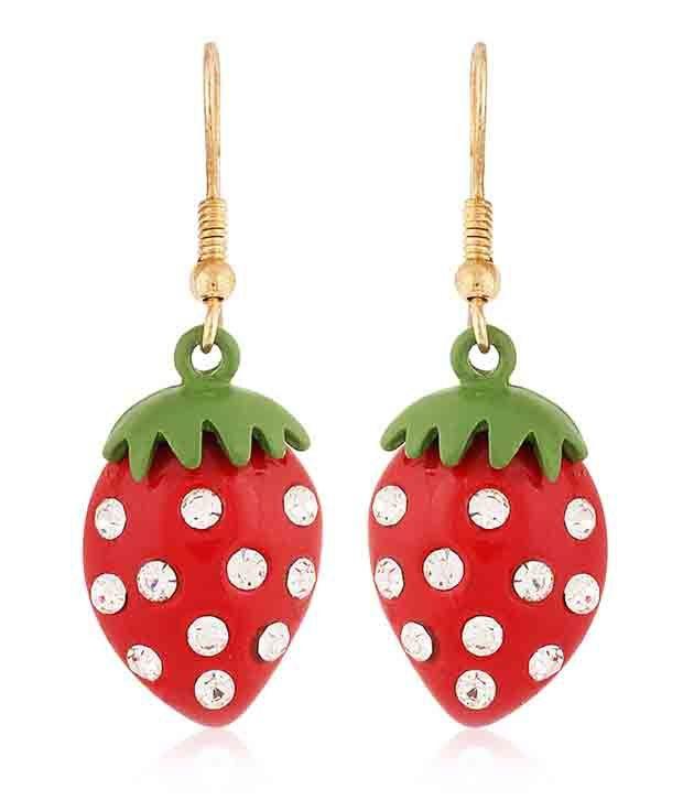Hi Look Sparkling Red Earrings