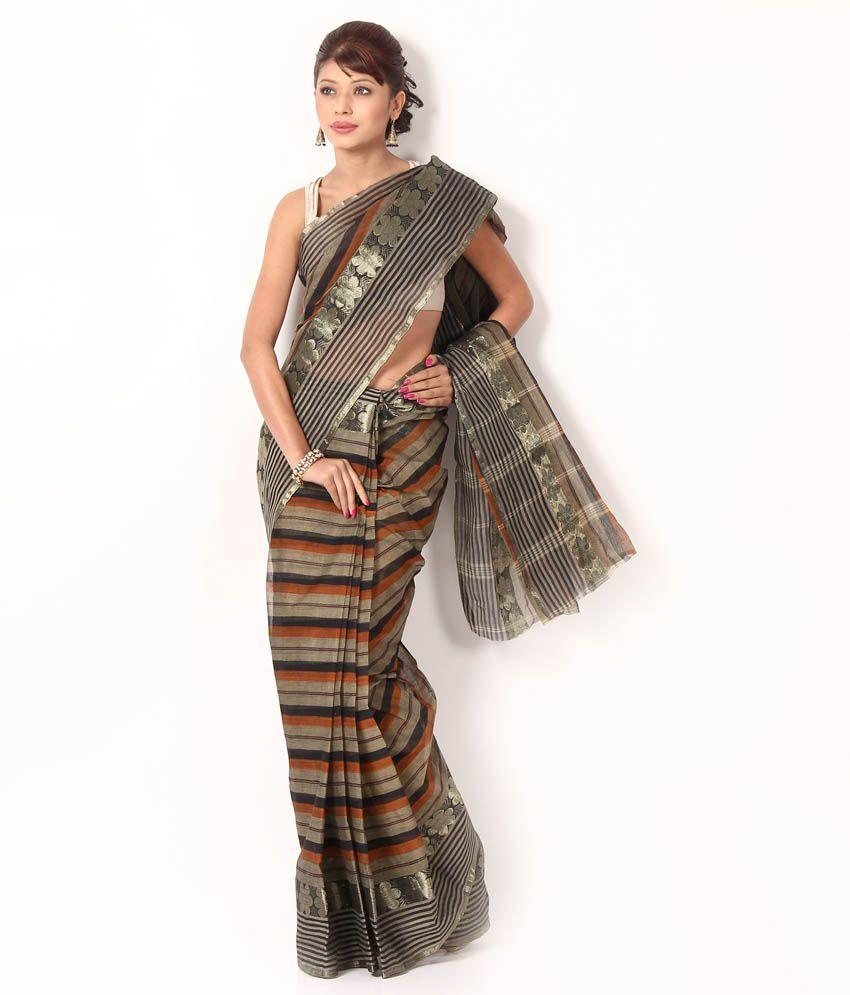 Sanchari Multi-Coloured Bengal Tant Cotton Saree