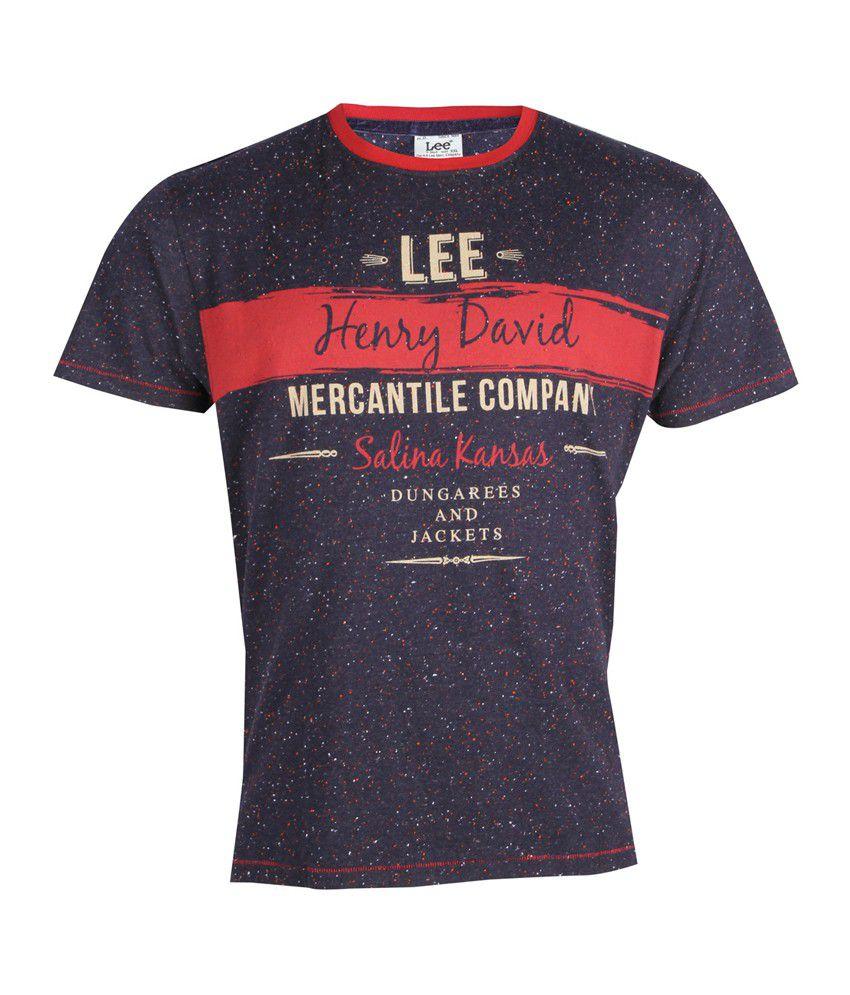 Lee Cooper Originals Navy Printed T-Shirt