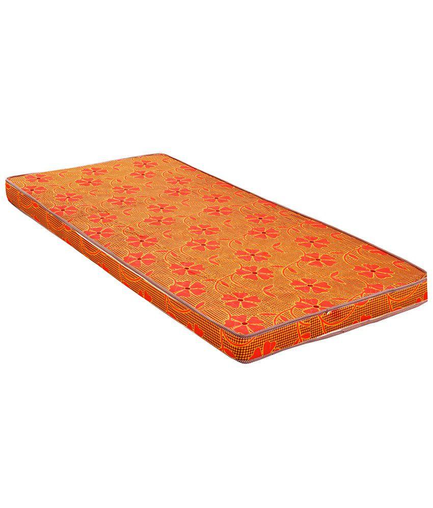 fablooms single size orange ecorange foam mattress 72x35x3 5