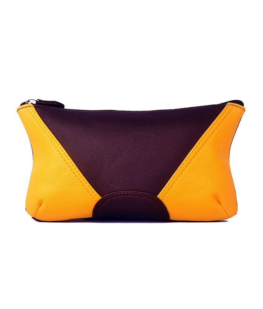 Bagsy Malone Color Block Clutch-Brown Dirty