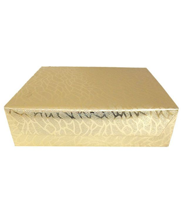 Golden Collections Bangle Box - Three Line Golden