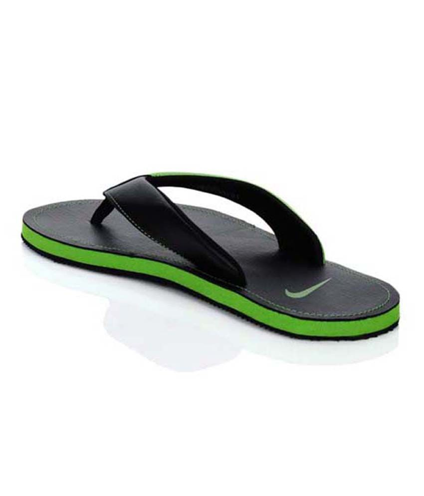 bd46982d54df Nike Chroma Thong II Green   Black Mens Flip Flops Price in India ...
