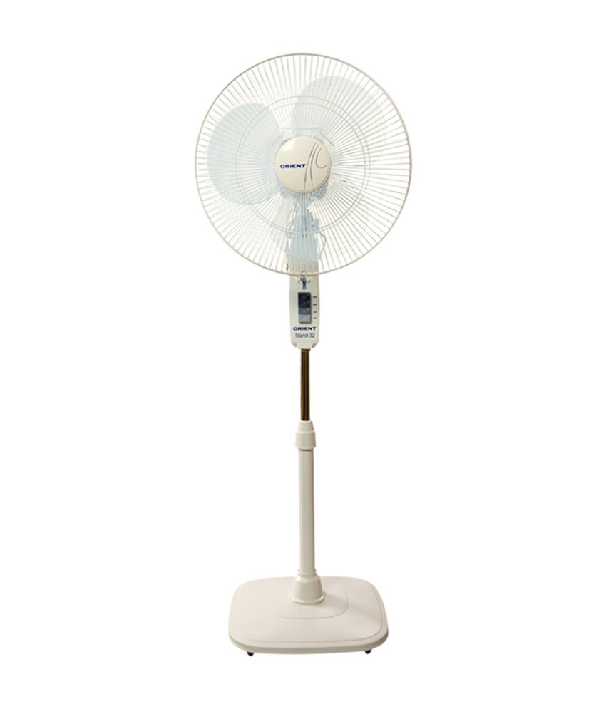 Orient 400 mm stand 32 standing fan white price in india buy orient 400 mm stand 32 standing fan white greentooth Gallery