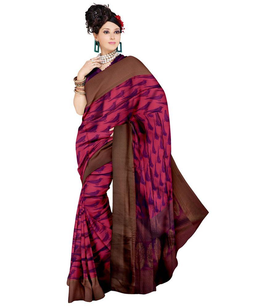 d0398ab3ed2ee9 Samyakk Purple Handloom Silk Saree with Thread Work - Buy Samyakk Purple  Handloom Silk Saree with Thread Work Online at Low Price - Snapdeal.com