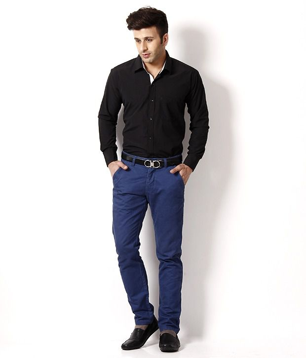 Black Shirt Blue Shirt