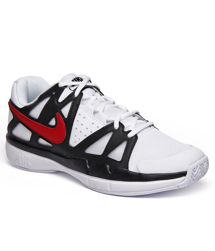 1a3b5efbf95 Nike Air Vapor Advantage White   Black Tennis Shoes - Buy Nike Air Vapor  Advantage White   Black Tennis Shoes Online at Best Prices in India on  Snapdeal