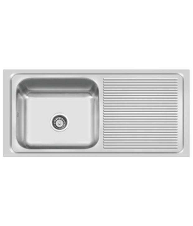 Buy Cera Prince Single Bowl Sink With Drain Board Ncks