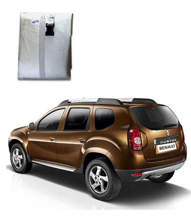 faithos car body cover premium silver matty renault duster buy faithos car body cover. Black Bedroom Furniture Sets. Home Design Ideas
