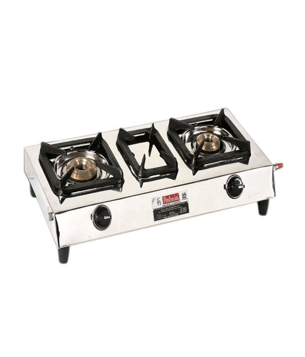 Padmini CS-202 SS 2 Burner Gas Cooktop