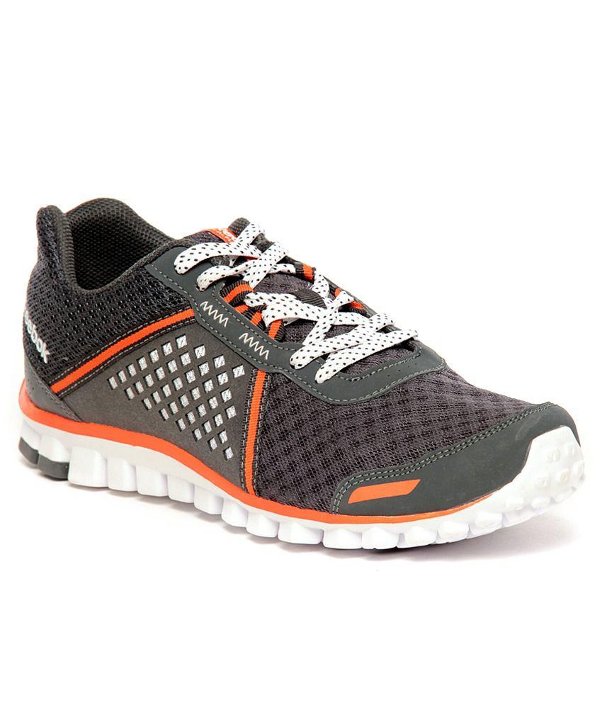 Reebok RealFlex Scream 4.0 Grey & Orange Running Shoes ...