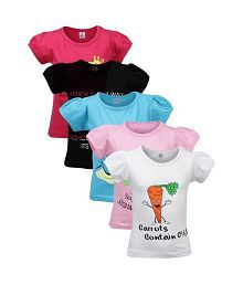 Goodway Did U Know Themed Pack of 5 T-Shirts For Girls (7 to 12 Years)