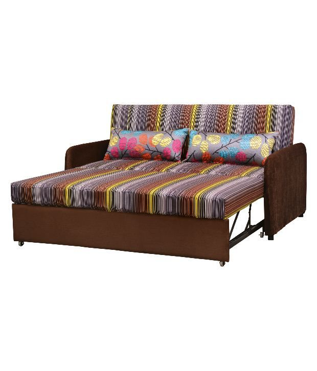Durian fabric pullout sofa cum bed buy durian fabric for Let out sofa bed