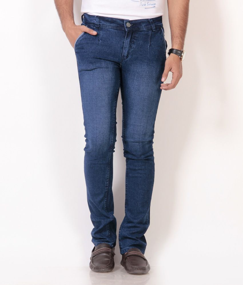 Nation Mania Blue Cotton Jeans