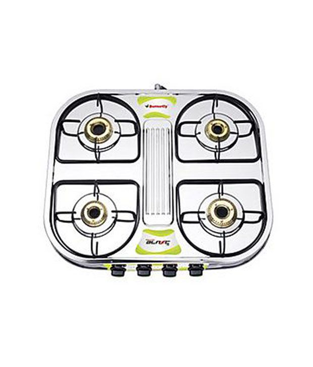 70e5f5c55 Butterfly 4 Burner-Blaze Gas Stove Price in India - Buy Butterfly 4 Burner-Blaze  Gas Stove Online on Snapdeal