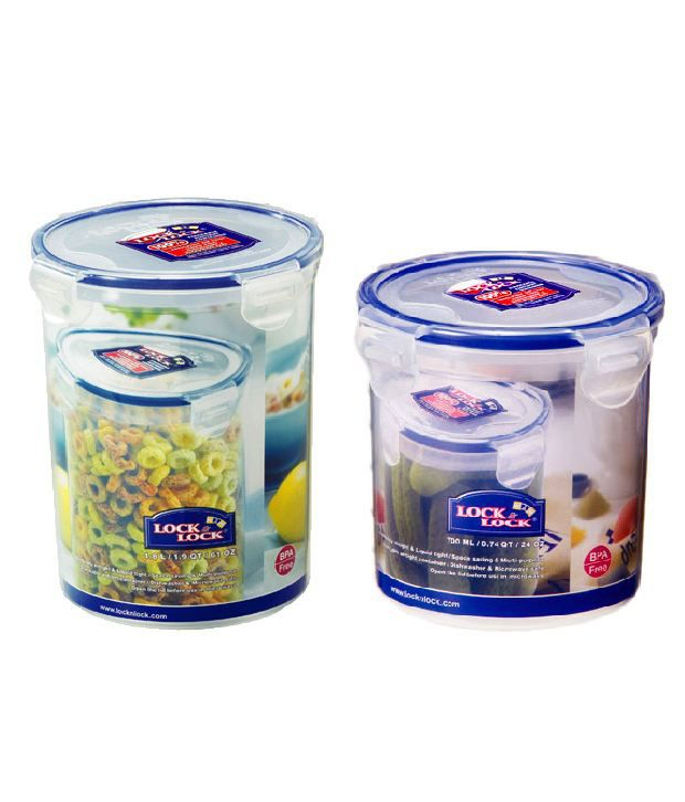 Lock N Lock Round Storage Container Set Of 2