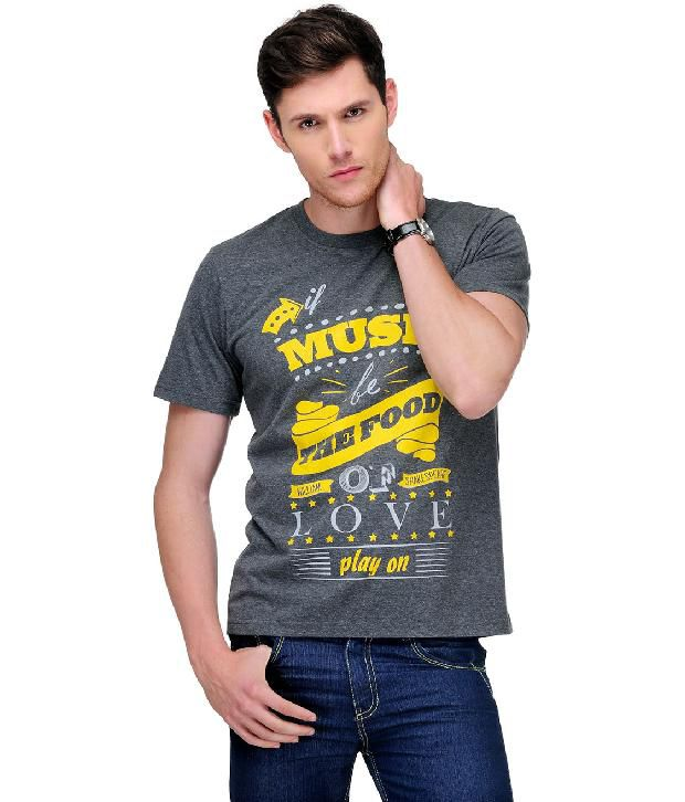 Yepme Trendy Grey T Shirt