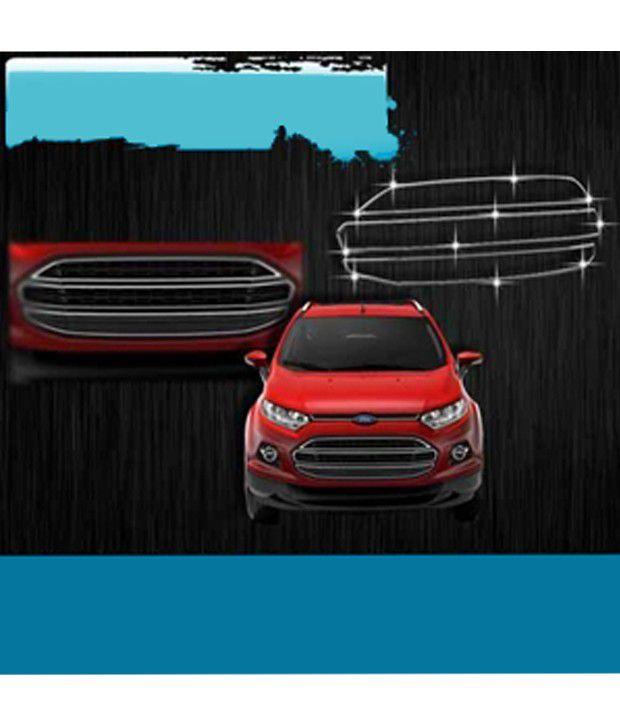 Autofurnish Ford Ecosport Chrome Finisher Front Grill