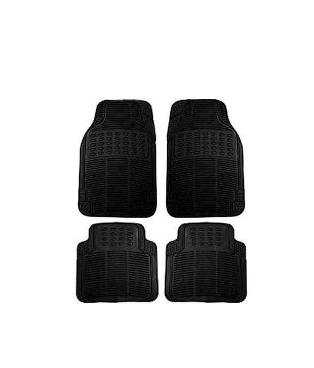 Dios Rubber Car Floor Mats In Black Colour For Hyundai