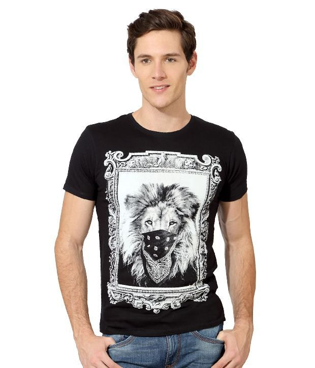 e33496297 Van Heusen Black Graphic Printed T-Shirt - Buy Van Heusen Black Graphic  Printed T-Shirt Online at Low Price - Snapdeal.com