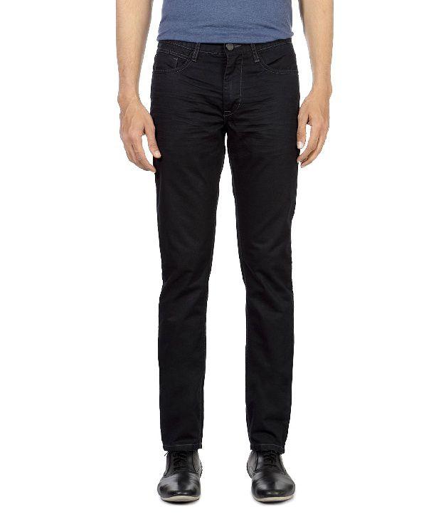 Van Heusen Dark Brown Comfort Fit Jeans