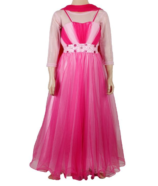 Archana Stunning Pink Evening Gown For Kids - Buy Archana Stunning ...