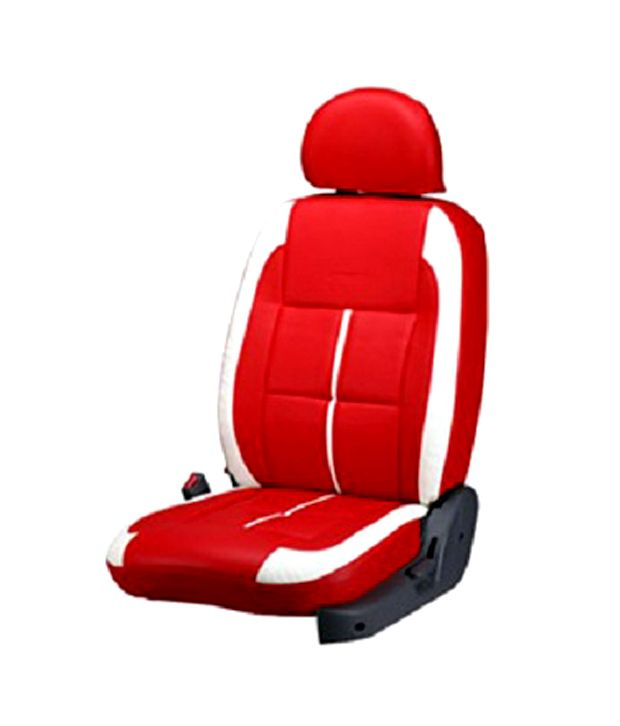 White Car Seat : Bardi jute car seat covers nissan red white color