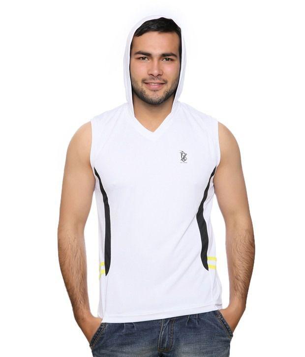 Duke Interesting White Hooded T Shirt