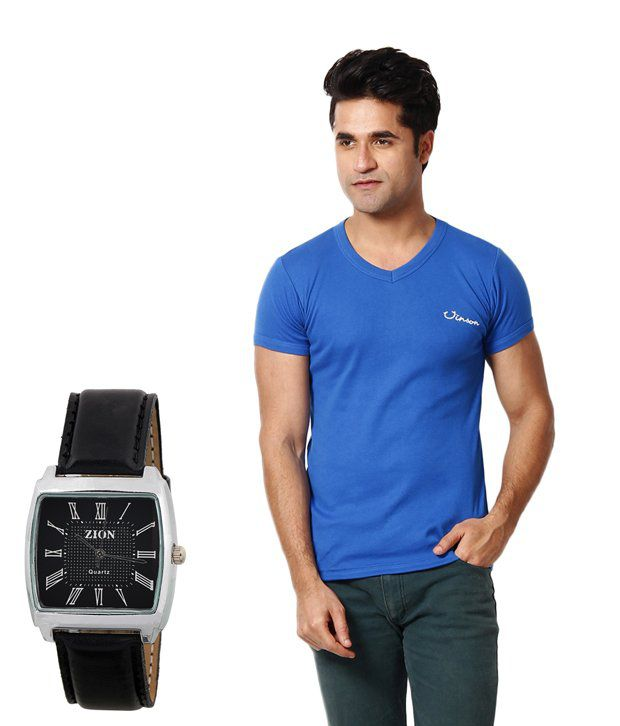 Zion Royal Blue T ShirtWith Free Watch
