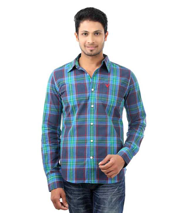 51fbd225d55 American Eagle Blue Men s Casual Shirt - Buy American Eagle Blue Men s  Casual Shirt Online at Best Prices in India on Snapdeal