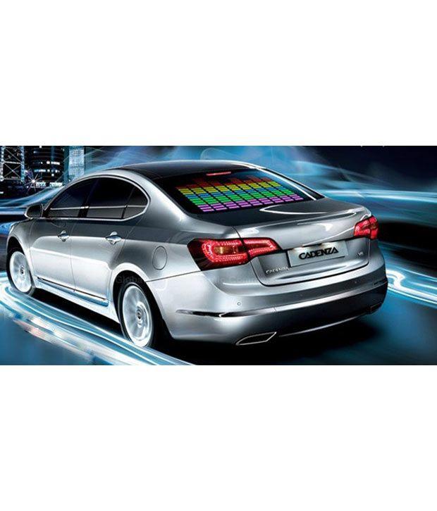 AutoKart - 45 X 11 Cm Car Music Rythm Sound Activated Stickers Equalizer  Glow LED Light
