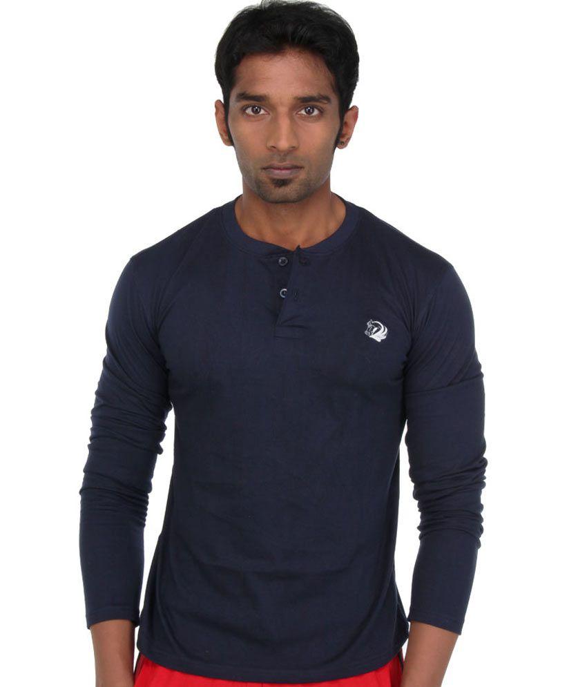 John caballo full hand t shirt 100 cotton navy blue for Full hand t shirts for womens