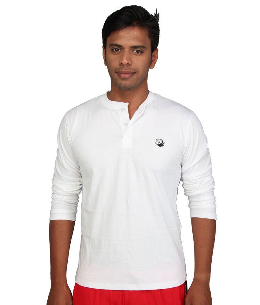 John caballo full hand t shirt 100 cotton white for Full hand t shirts for womens
